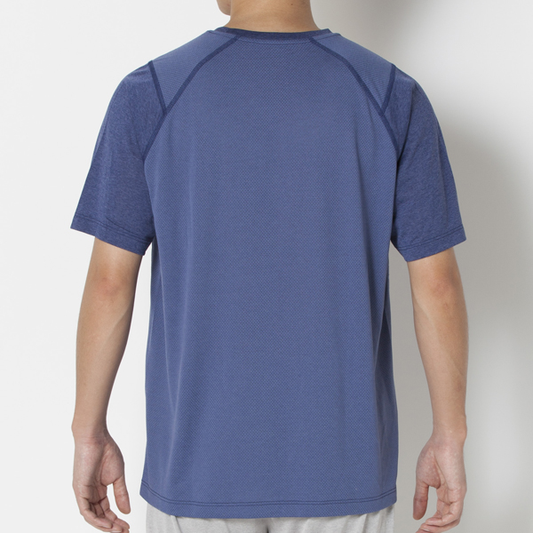 天竺×メッシュ半袖Tシャツ