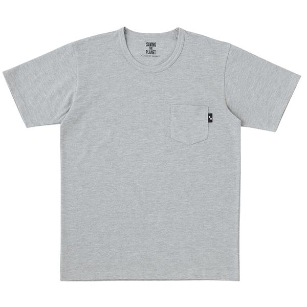 梨地ポケ付半袖Tシャツ