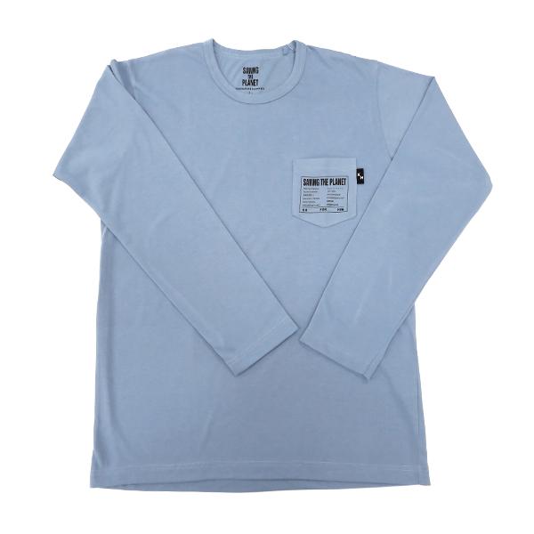 長袖Tシャツ(ウスアオ)