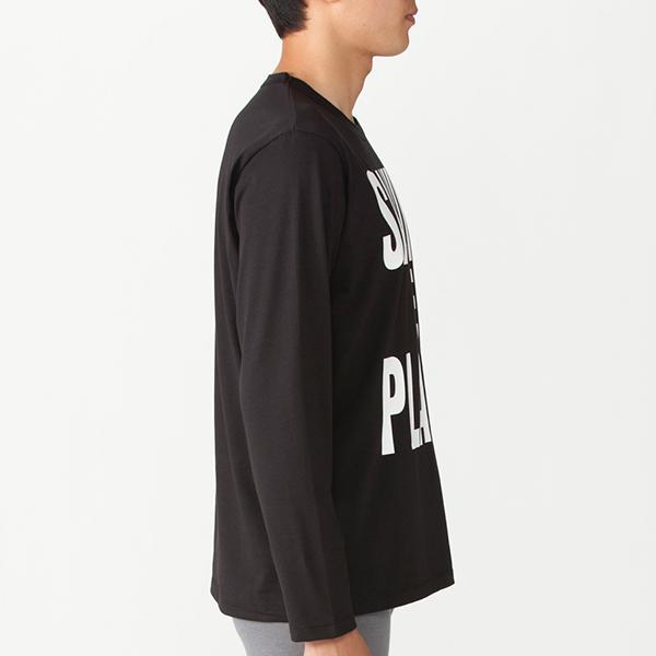 長袖プリントTシャツ(クロ)
