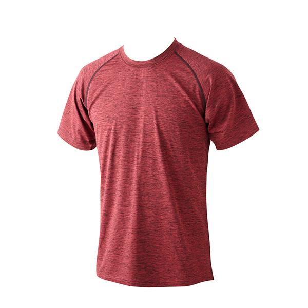 動きやすくあたたかい半袖クルーネックTシャツ(アカ)